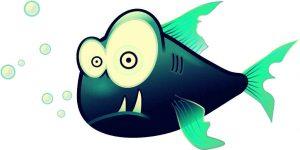 Vektorgrafik eines Fisches