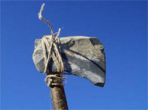 Eine Steinzeitaxt