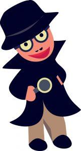 Clipart eines Detektives
