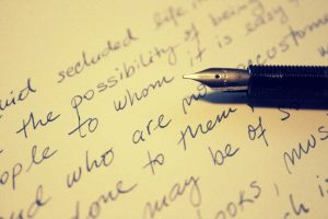 Mit Füller geschriebener Brief