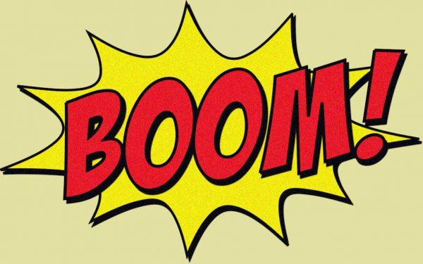Schriftzug Comic Boom
