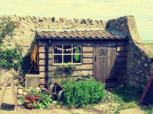 Eine kleine Hütte