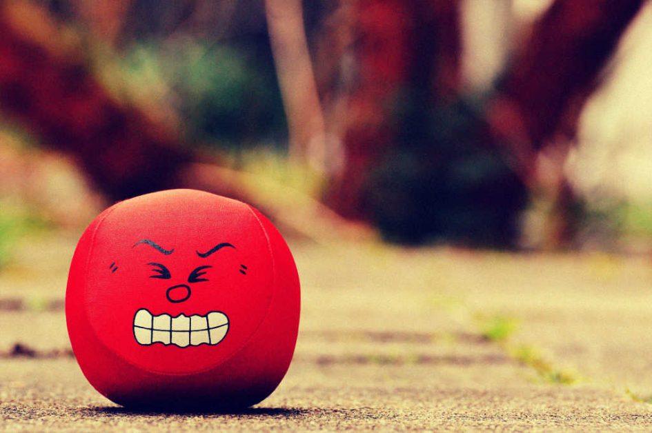 ein wütender Kopf