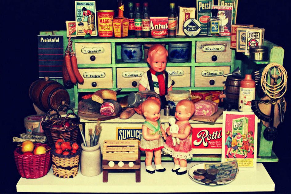 Ein alter Kinderkaufladen