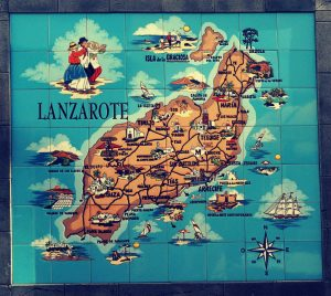 Landkarte, Tourismus, Lanzerotte
