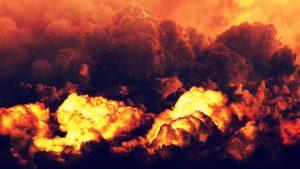 Eine Explosion