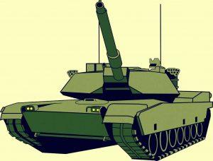 Clipart eines Panzers