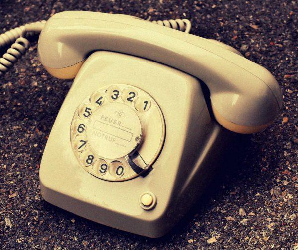 ein altes Telefon