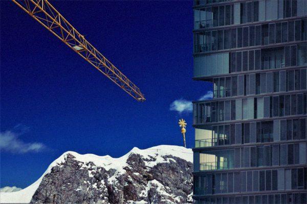 Zugspitze mit Wohnungen