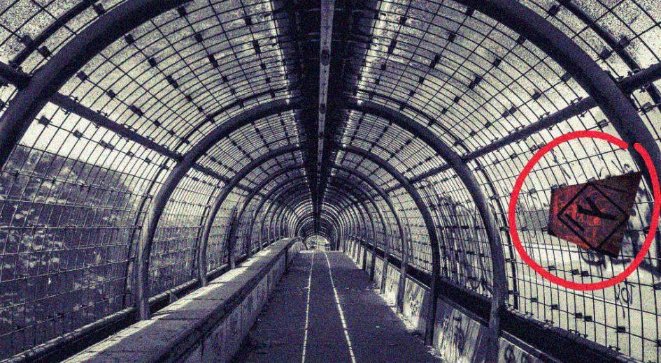 Eine alte Gangway